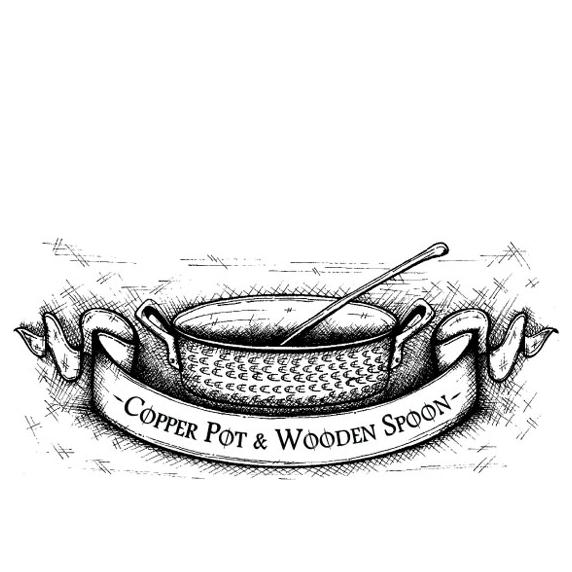 Copper Pot Wooden Spoon